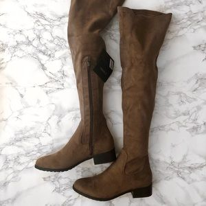 NEW Forever 21 over the knee tall brown/tan boots
